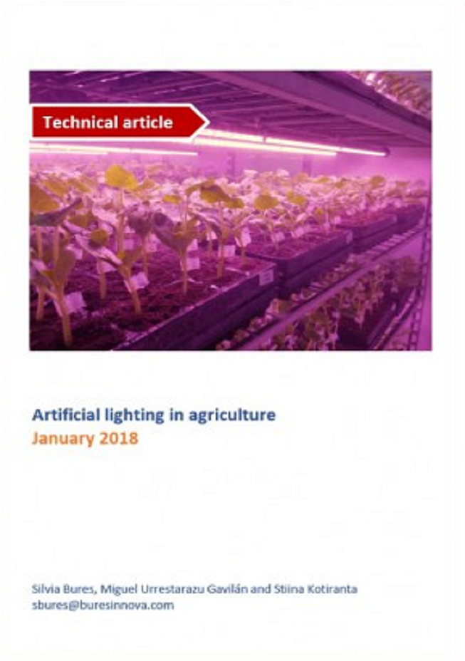 Artificial light in agriculture