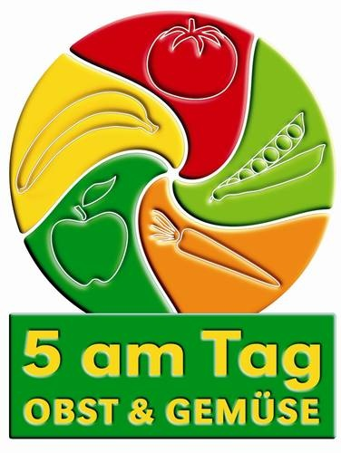 5 am Tag, fruit and vegetables a day