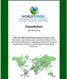 First Newsletter of the World Food Preservation Center, LLC
