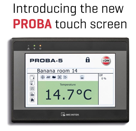 The new PROBA touch screen
