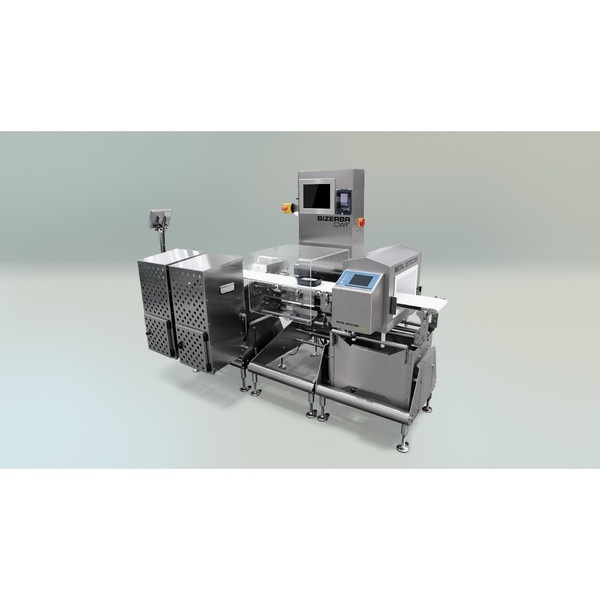 Dynamic checkweigher CWE maxx in combination with metal detector
